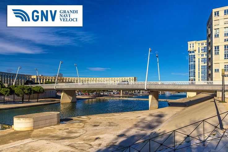 #Modern #bridge in #Montpellier over the #river #Lez, #France. Discover #GNV routes from/to #Sete here: http://www.gnv.it/en/ferries-destinations/s%C3%A8te-ferries-france.html