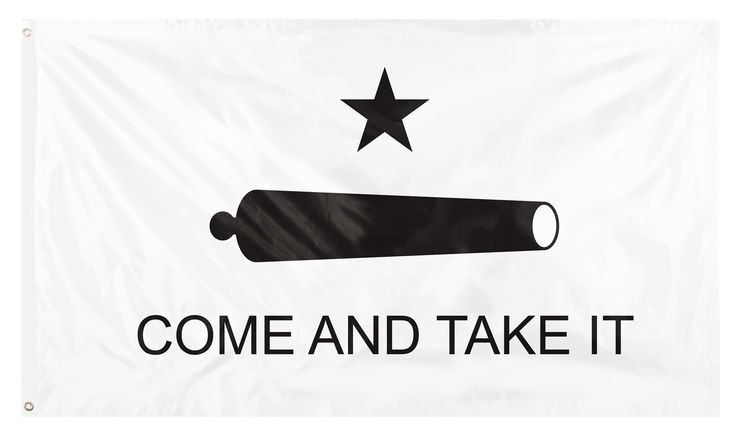 "3' X 5' Polyester ""Come and Take It Flag"" is a representation of the classic American patriotic slogan used in battle during the American Revolution. Flag features the classic saying and imaginary."