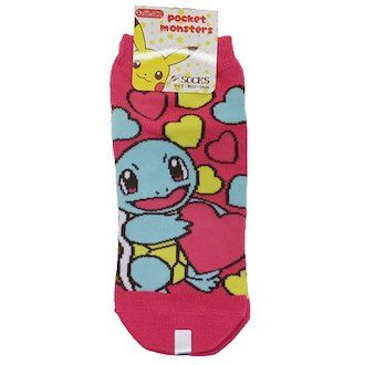 The fancy goods mail order cinema collection which has a cute socks Lady's socks juvenile Japanese pond turtle and heart Pokemon Small planet 22-24cm for the Pocket Monster woman