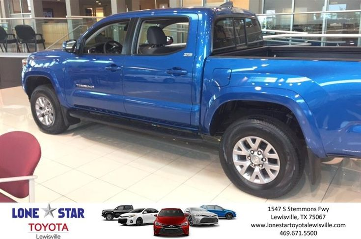 4x4 Toyota Tacoma. Great truck with great gas mileage  https://deliverymaxx.com/DealerReviews.aspx?DealerCode=E208  #Pickup #blue #2017 #Tacoma #Toyota #LoneStarToyotaofLewisville