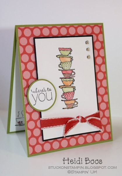 By Heidi Boos via Stampin' Connection! Love this stamp set and the little cup inside the cardMornings Cups, Stamp Sets, Cards Ideas, Cups Stamps, Boos Stuck, Stamps Sets, Su Mornings, Cards Layout, Heidi Boos