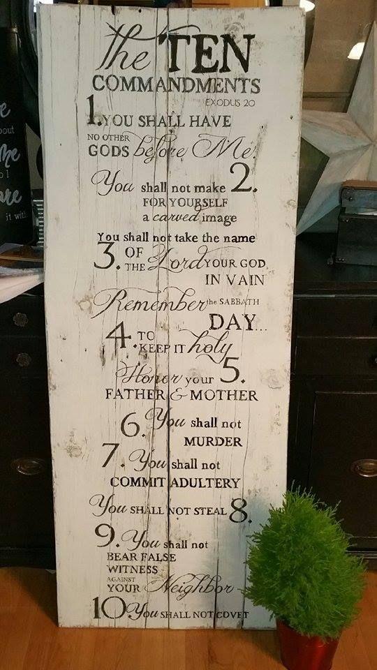 10+Commandments+Pallet+Sign