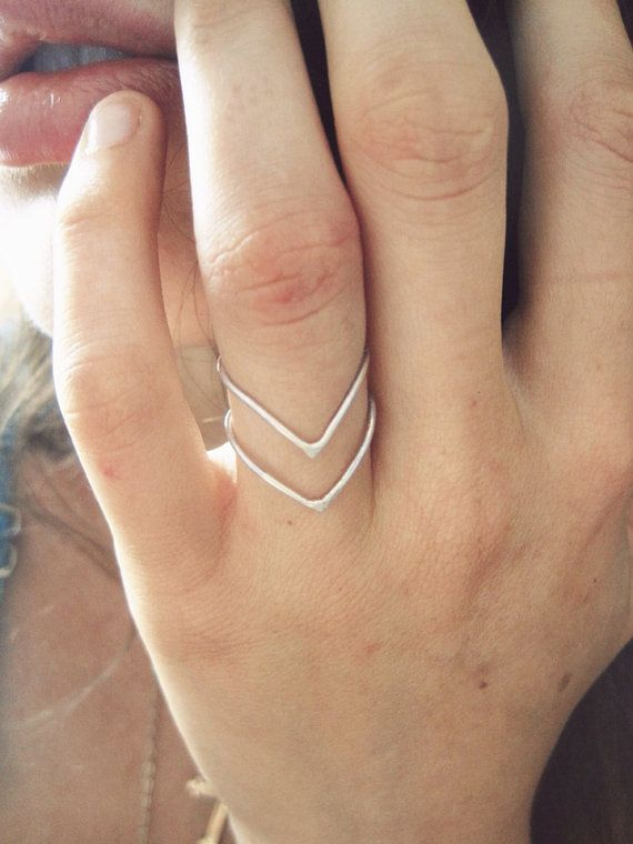 Sterling Silver Chevron Arrow Ring by GramercyEight on Etsy, $32.00