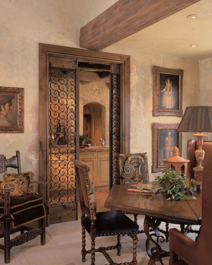 Spanish Style Dining Space Designed By Nancy Anderson Ross Dallas Design Group Interiors In Colorado