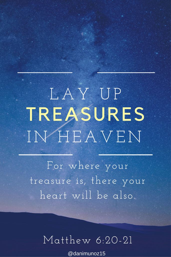 Bible Verse Matthew 6:20-21 | Lay Up Treasures in Heaven | Bible Verses about Money | Scripture about the Heart | Starry Sky | A Lesson from Genesis | Free Indeed