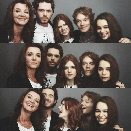 - Game of Thrones  Michelle Fairley, Richard Madden, Rose Leslie, Alfie Allen and Emilia Clarke