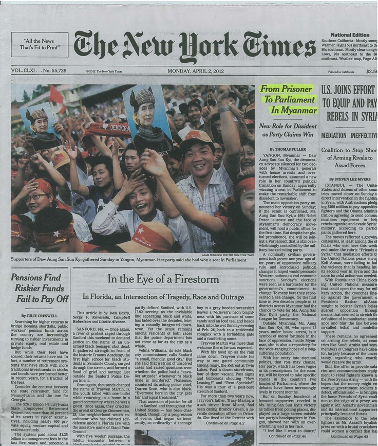Amor, Honor y Libertad en The New York Times