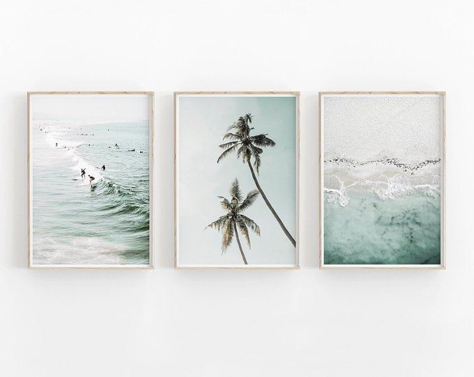 Tropical Beach Canvas Print Philippines Beach Canvas Art Ocean