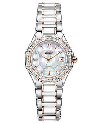 17 best images about citizen watches ladies citizen watch women s eco drive signature diamond 3 8 ct t w