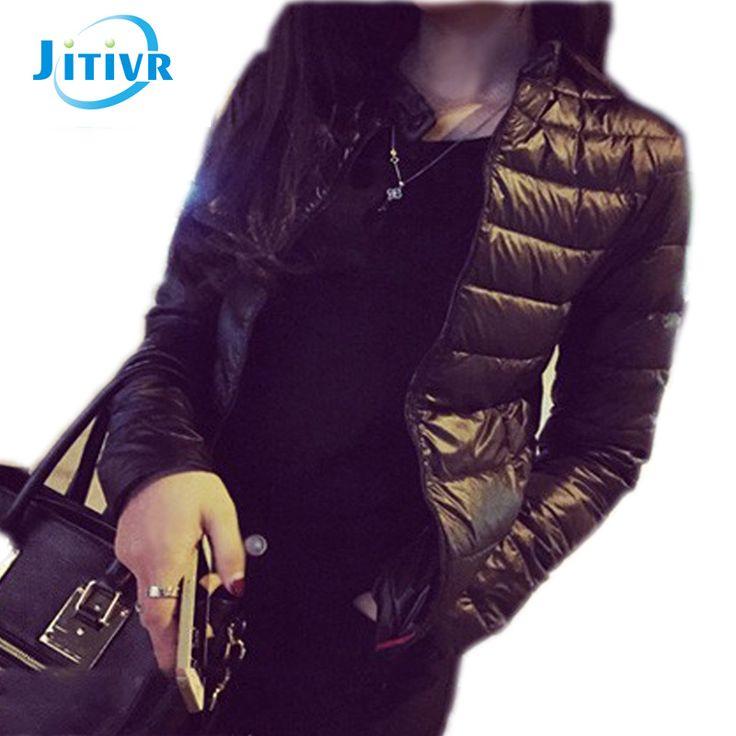 2016 Winter & Primavera Mulheres Jaqueta Curta Para Baixo Outwear Feminino Casaco de inverno de Algodão Acolchoado Casaco Quente Outwear Mulheres Inverno Para Baixo casaco
