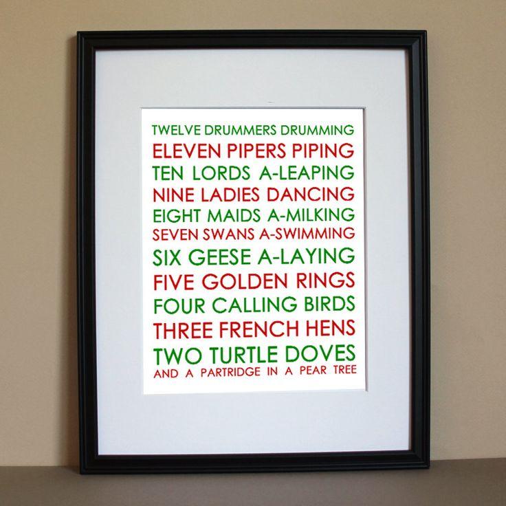 12+days.jpg (800×800) (With images) Christmas lyrics