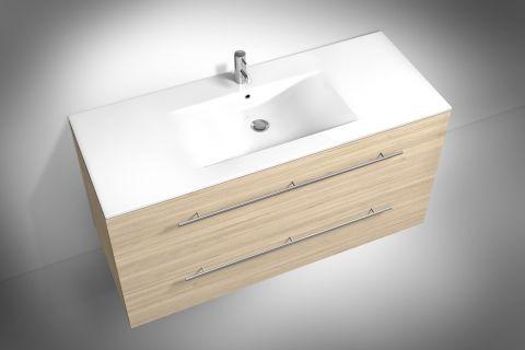 Waschplatz f rs badezimmer in sonomaeiche holz breite ca for Hochwertige waschtische