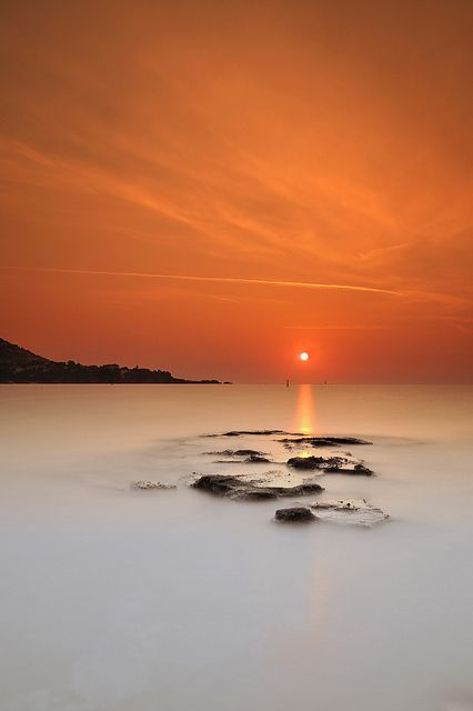 Orange sunrise ~ Cap Esterel ~ Côte d'Azur (French Riviera) ~ France by emvri85, via Flickr