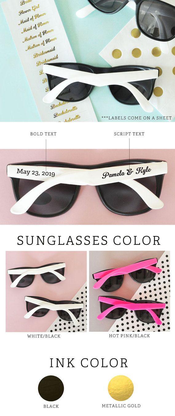 Wedding Sunglasses 24 Personalized Custom