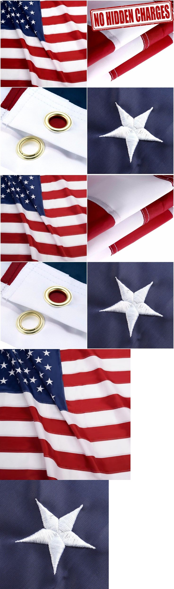 Flags 43533: Us American Flag Deluxe Large Jumbo Sewn Nylon Embroidered Stars 10X15 Ft Sizes -> BUY IT NOW ONLY: $111.82 on eBay!