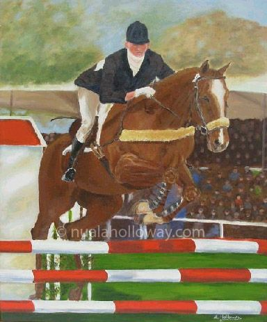 """The Showjumper"" by Nuala Holloway - Oil on Canvas #FineArt #Equestrian #Horse"