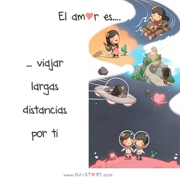 El amor es... viajar largas distancias por ti.