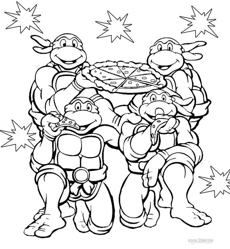Free Tmnt Coloring Pages To Print For Kids Description From Coloringtop I