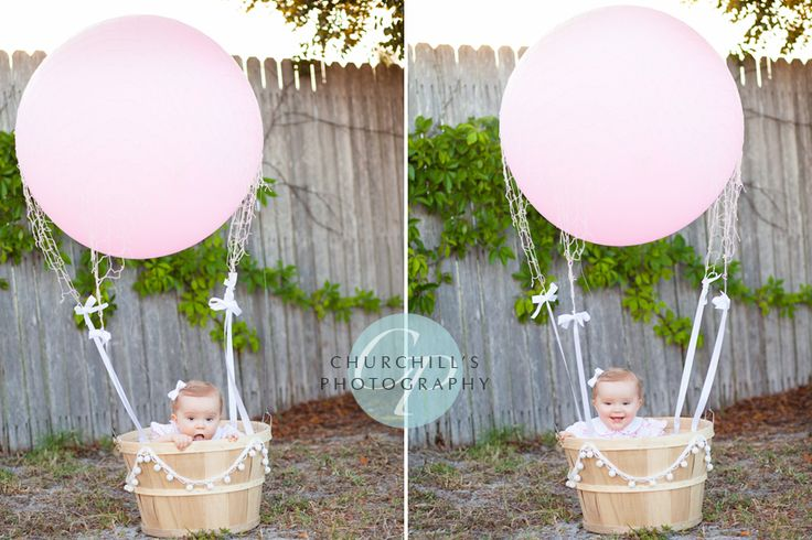 How to make a hot air balloon photo prop:: Get one large
