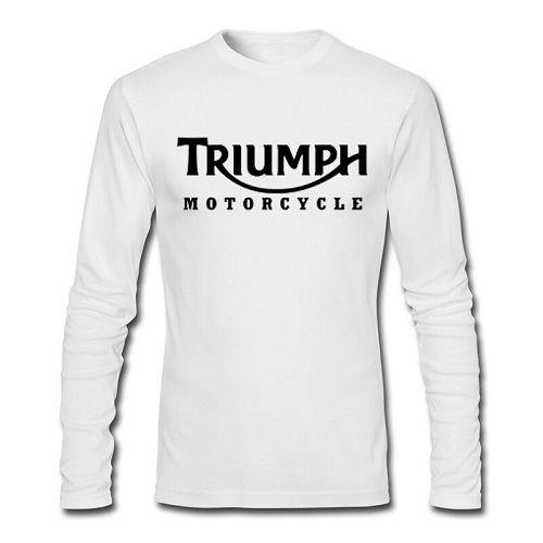 fashion TRIUMPH MOTORCYCLE Long Sleeve print T Shirt men's t shirt US standard size pure cotton t shirt factory outlet wholesale #Affiliate