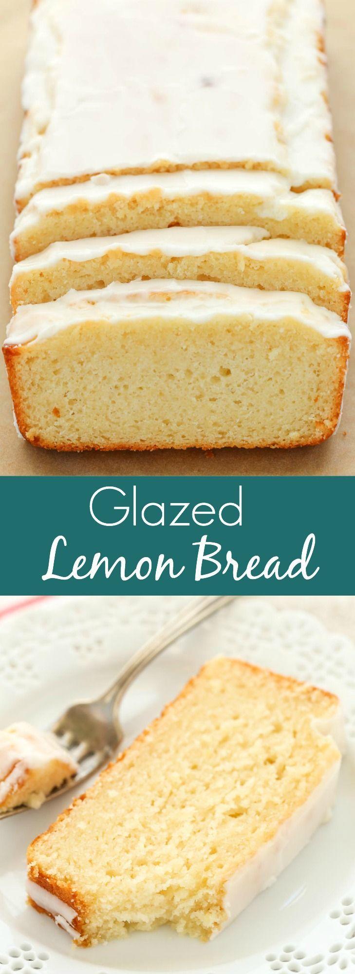 An easy lemon bread recipe topped with a sweet lemon glaze. This Glazed Lemon Bread is perfect for breakfast, brunch, or dessert!