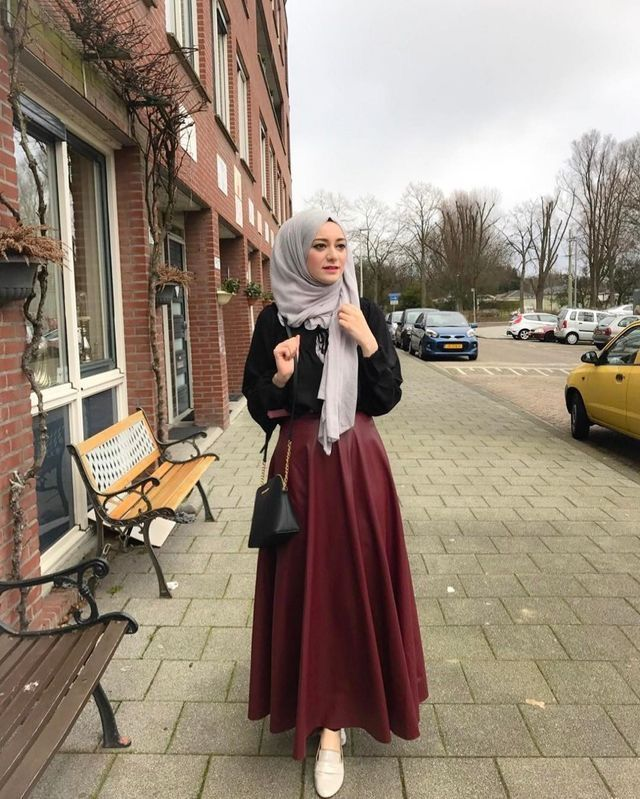 Modest Fashion Hijab Beautiful Hijab Style For Autumn Fall Winter Alkhansas Modest Fashion Top Pick Gaya Berpakaian Model Pakaian Hijab Model Pakaian