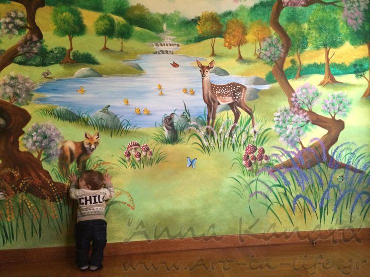 Έργο_31:Φύση με ελάφι, αλεπουδίτσα, σκιουράκι κι άλλα ζωάκια_Άνω Βούλα