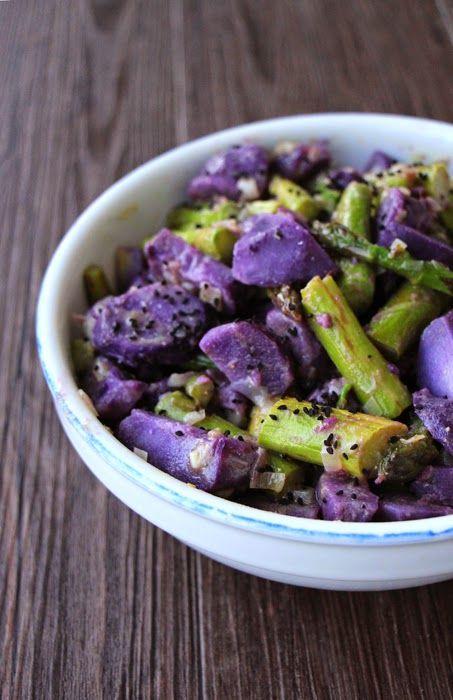 Kartoffelsalat aus Vitolette und grünem Spargel
