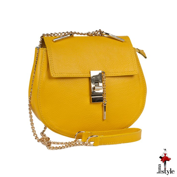 Geanta Piele Sonia Yellow bag for my sunny day :)