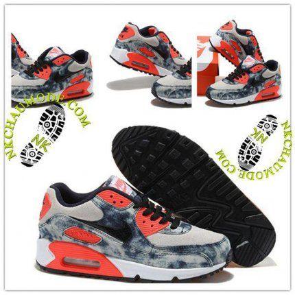 huge discount 4023f 69e1b ... ebay tendance nike chaussure sport air max 90 2015 femme bleu beige .  1e571 f758a
