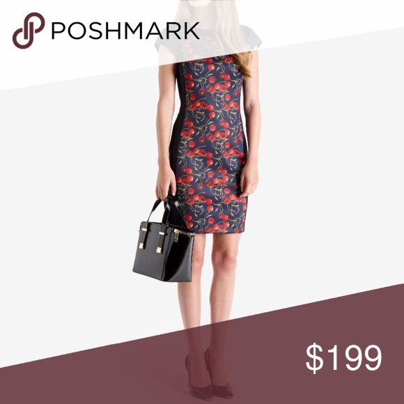 🌲MAKE AN OFFER🌲Ted Baker Cheerful Cherry Dress Ted Baker Cheerful Cherry Dress, beautiful gold back zipper, stretchy material, size 0, (perfect for sizes 00/0), brand new with tags. Ask for specific measurements. Ted Baker Dresses