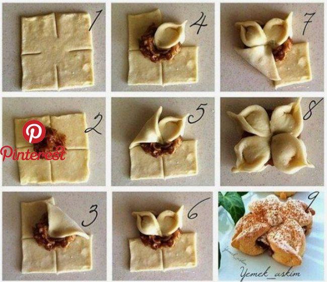 így Formázd A Kelt Tésztát 30 ötlet Lépésről Lépésre Készíts Szép Formázott Kelt Tésztás Süteményeket Recetas Con Hojaldre Hojaldres Postres Con Hojaldre