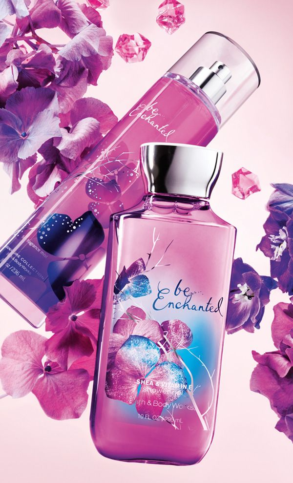 A shimmering fantasy! Be Enchanted™ is a charming mix of frosted florals sweetened with sparkling, sugared pomegranate. #BeEnchanted