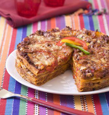 Lasagne de tortillas au boeuf et poivron, la recette d'Ôdélices : retrouvez les ingrédients, la préparation, des recettes similaires et des photos qui donnent envie !