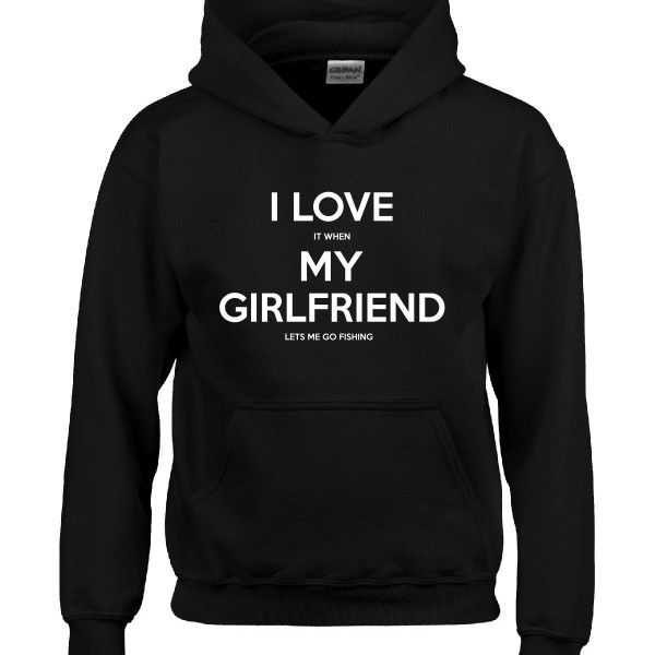 I Love It When My Girlfriend LETS ME GO FISHING Boyfriend Gift  Hoodie  Available At Find A Funny Gift's Online Store:  CLICK HERE => http://ift.tt/1PVU8Vb <=  #FindAFunnyGift  is a Clothing Brand and your source for the Perfect Funny Gift!  We care about Quality : We only use the latest state-of-the-art #DTG Printing Techniques over High Quality Apparel to deliver Products You LOVE To Gift or Wear!  www.findafunny.gift #gift #funnygift #clothing #cool #apparel #menswear #womenswear #t-shirt…