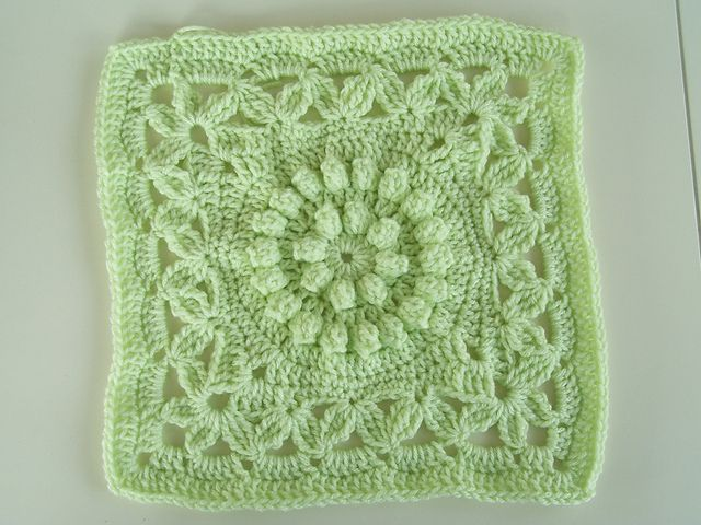 """Ravelry: Crown Jewels - 12"""" square pattern by Melinda Miller - free Ravelry download"""