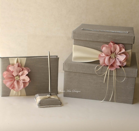Wedding Card Box Wedding Money Box   - DIY? With burlap or ribbon and sunflower, no rhinestones and it would be perfect