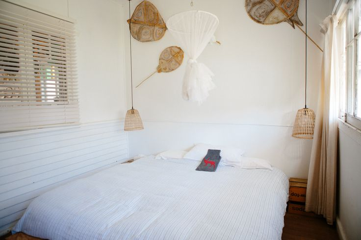 Bedroom 2/3 at Dickebusch, Patonga. Beautiful, clean and simple.