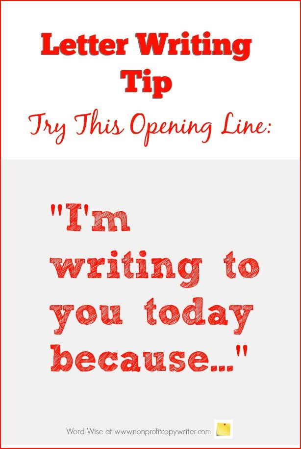 Letter Writing Tip Try this Great Opening Line Freelance Writing