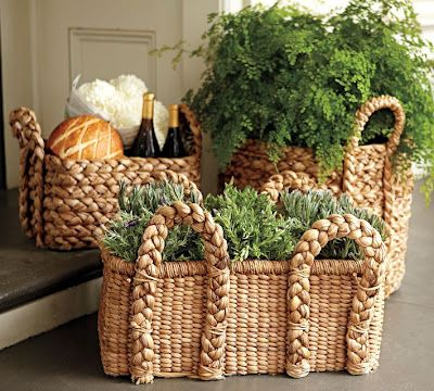 Great use of baskets...