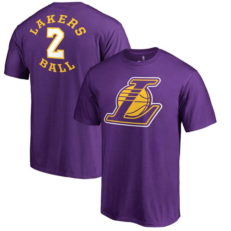 Lonzo Ball Los Angeles Lakers Fanatics Branded Round About Name & Number T-Shirt - Purple