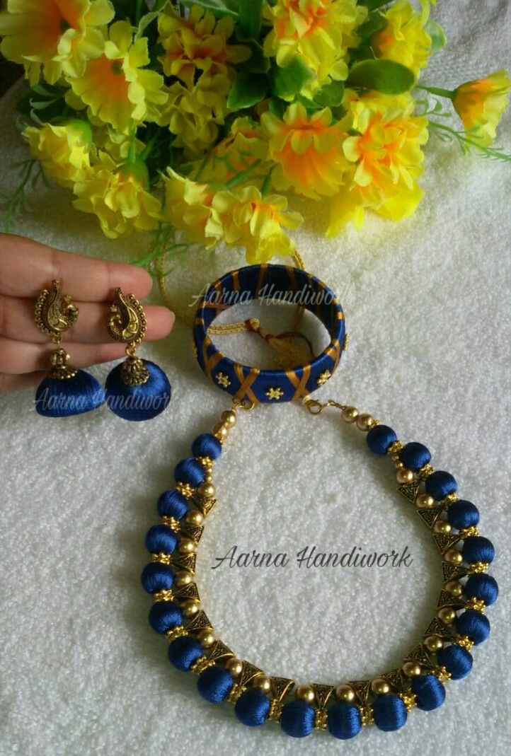 Blue Bails Set with Peacock Jhumka Can be customised to any preferred colour.  To order watsapp to 83174 95219