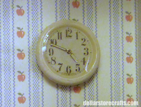 DIY: Turn a button into a dollhouse wall clock