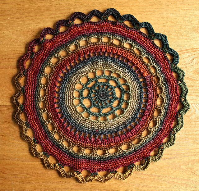 lovely doily. In COLOURS!