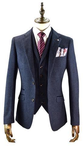 Oxford Navy Tweed Suit