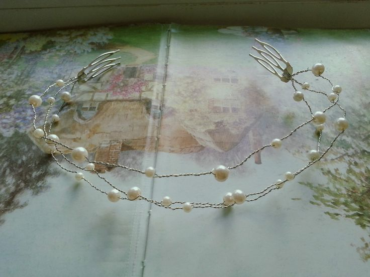 ivory bridal crown