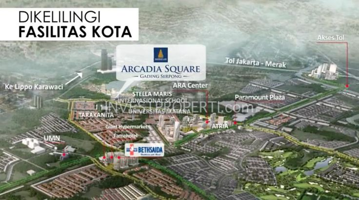 Fasilitas sekitar Arcadia Square Serpong