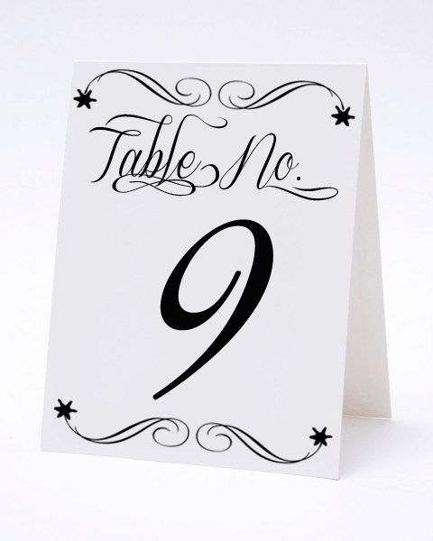 Vintage Calligraphy Wedding Table Numbers- THE LOLA. {ilu.lily designs on Etsy}