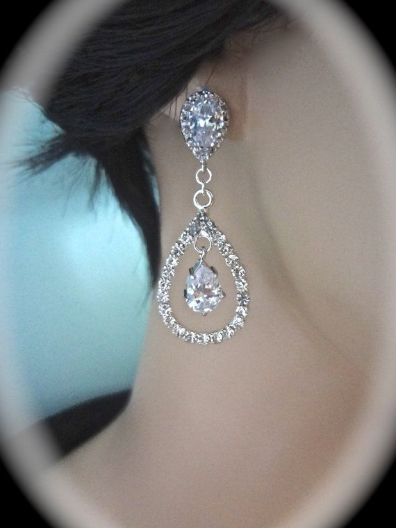 Hey, I found this really awesome Etsy listing at https://www.etsy.com/listing/179918341/bridal-jewelry-rhinestone-earrings