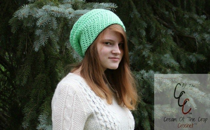 Cream Of The Crop Crochet ~ Round Slouchy Hat {Free Crochet Patterns}